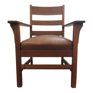 Stickley Bros. Arts & Crafts Arm Chair