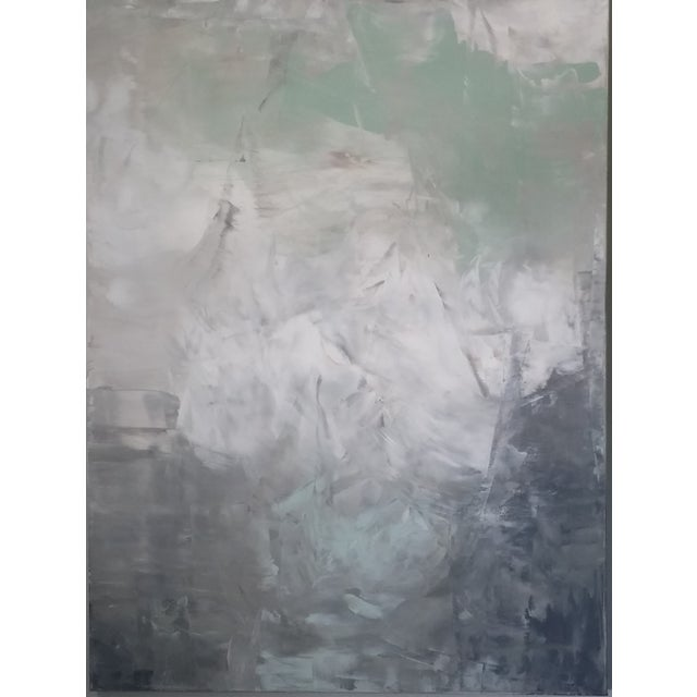 """Image of Original """"Serene"""" Abstract Painting"""