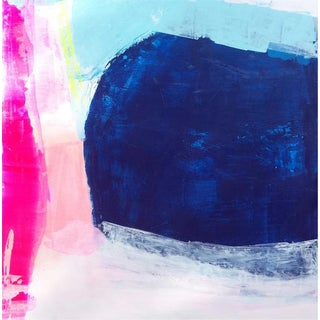 """Susie Kate """"Symphony Blue"""" Abstract Painting"""