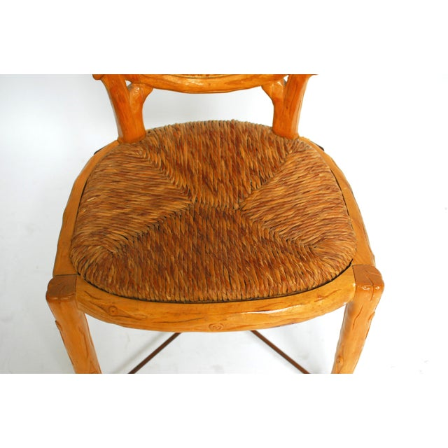 Spanish Carved Faux Bois Chair - Image 5 of 5