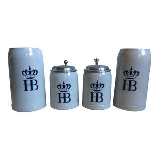 German Beer Steins - Set of 4