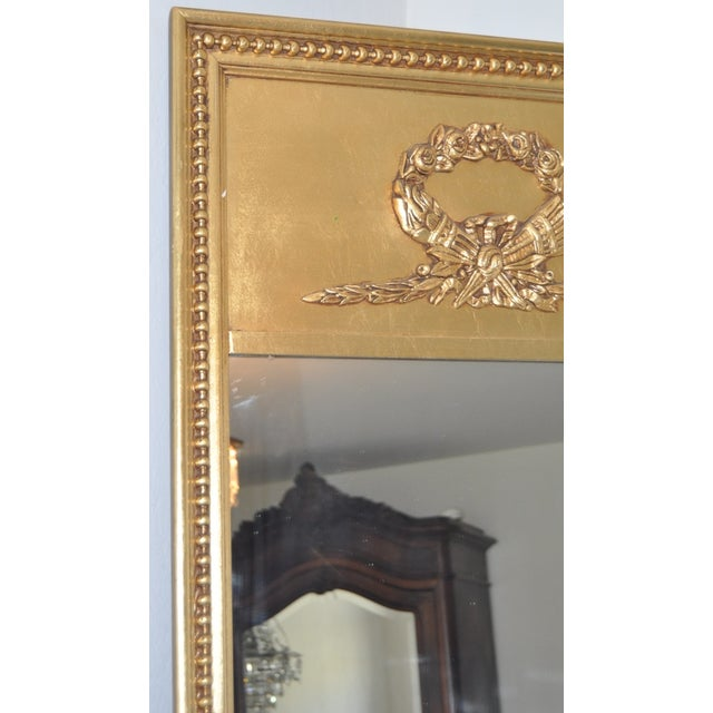 Image of 1950s French Provincial Over Mantle Gilded Mirror