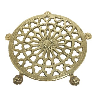 Vintage Brass Footed Trivet