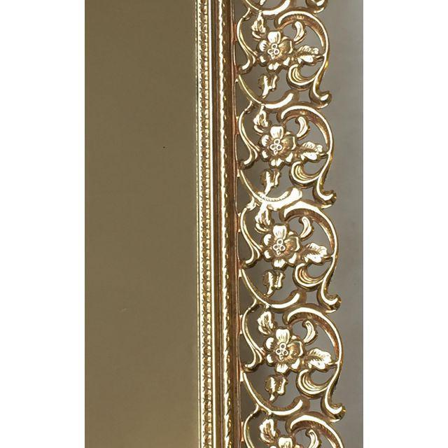 Image of Rectangular Filigree Detail Vanity Mirror