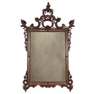 Italian Louis XV Carved Wood Mirror
