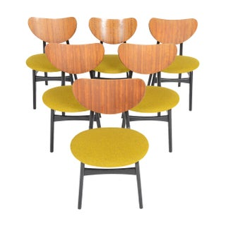 G Plan Librenza Chartreuse Dining Chairs - Set of 6
