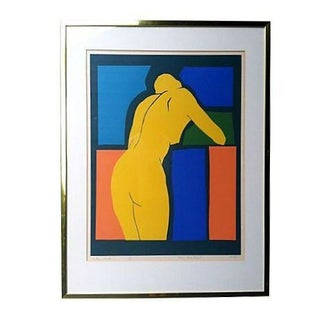 Original 70s Silk Screen - Yellow Nude