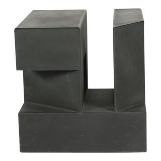 """Black Cube"" Aluminum Sculpture by Alfredo Halegua"