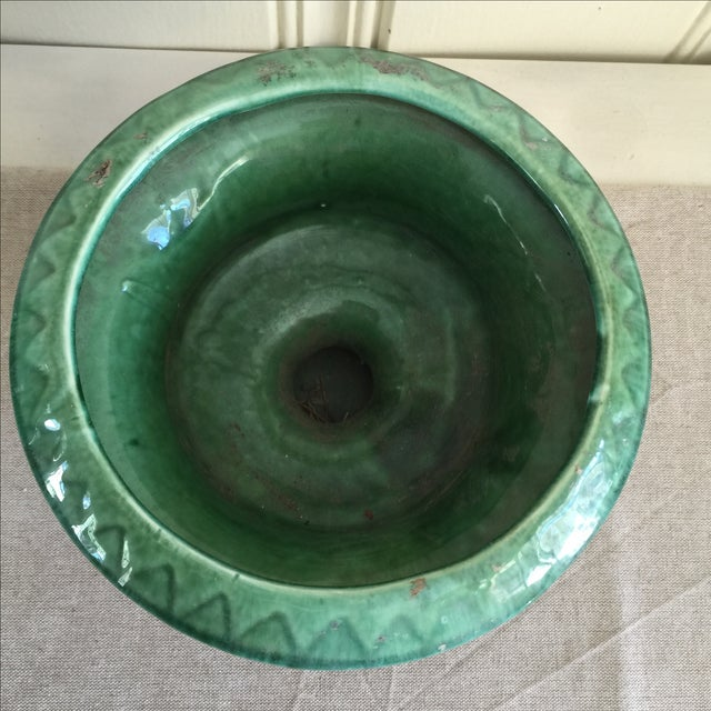 Mid-Century Green Pottery Vessel - Image 7 of 7