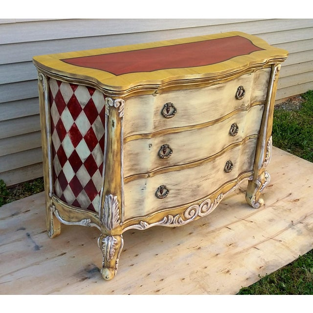Hand Painted Harlequin French Dresser - Image 6 of 9