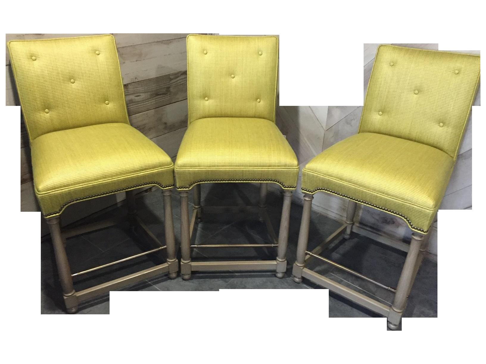 Custom Hickory Chair Bar Stools Set Of 3 Chairish