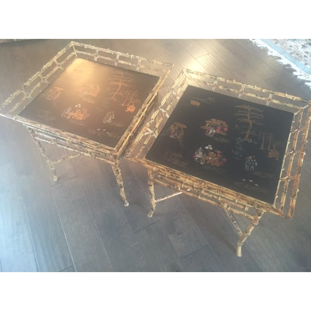 Vintage Chinoiserie Tables - A Pair - Image 4 of 10