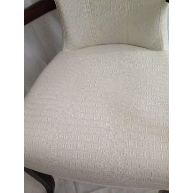 Image of Faux Ostrich Leather Italian Accent Chairs - A Pair