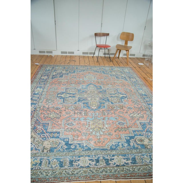 "Mid-Century Distressed Oushak Rug - 8'2"" X 10' - Image 7 of 10"