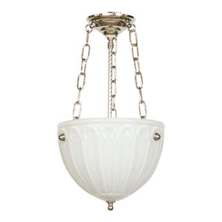 C. 1910 Cased Glass Bowl Fixture