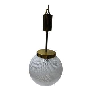 Murano Venini Globe Pendant