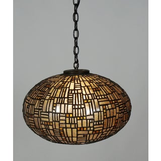 Leaded Mica and Glass Hanging Fixture by Adam Kurtzman