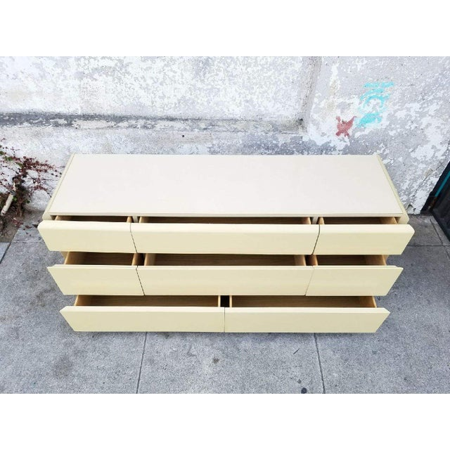 Vintage Lane Brass & Ivory Credenza - Image 3 of 5