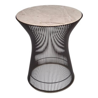 Warren Platner for Knoll Bronze Finish and Marble Side Table, circa 1970s