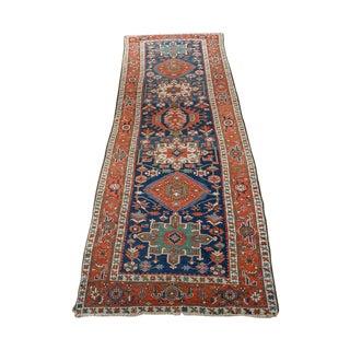 """Caucasian Kazak Tribal Design Runner Rug -- 4' x 12'11"""""""
