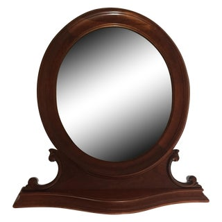 Antique Oval Table Top Mirror