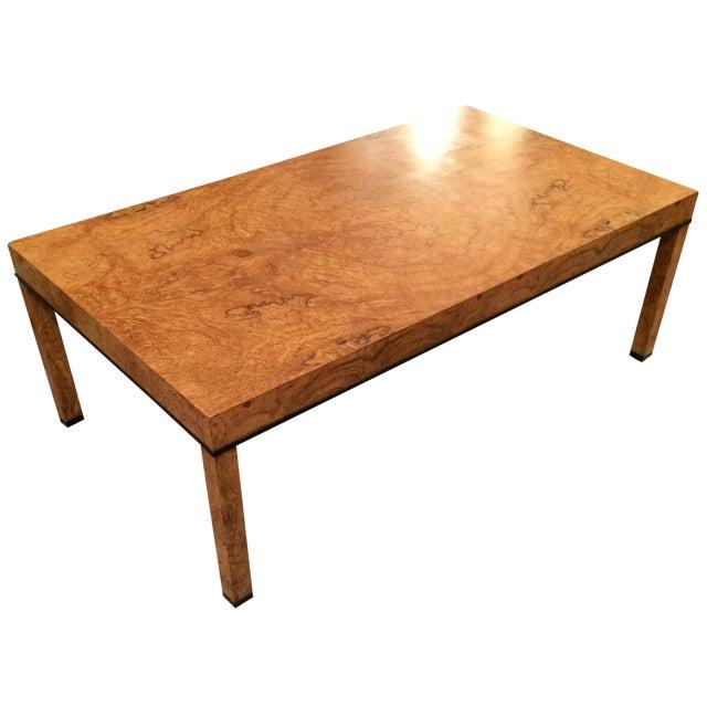 Baker Burlwood Modern Coffee Table - Image 1 of 7