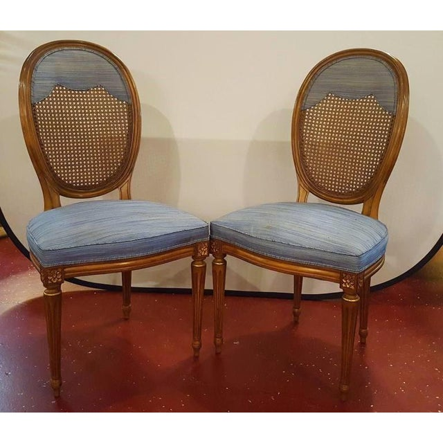 blue round back dining chairs set of 4 chairish