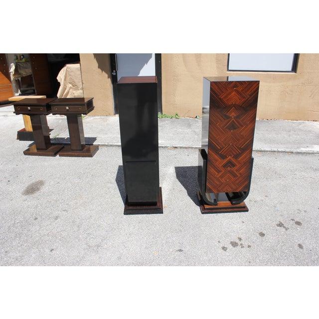 French Art Deco Macassar Ebony Pedestals - A Pair - Image 7 of 10
