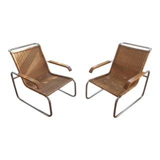 Pair Vintage Cantilever Chairs
