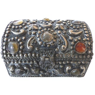 Moroccan Bejeweled Dome Trunk