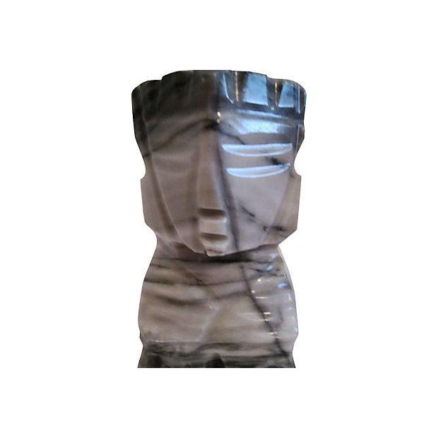 Image of Marble Aztec-Style Bookends - Pair