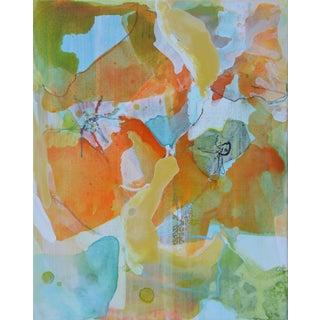 'California Poppies 1' Mixed Media Painting