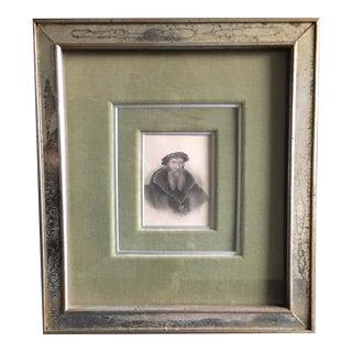 """1823 Framed """"Poets of Great Britain Series"""" Engraving"""