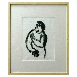 French Gestural Figure Painting by Alexander Jordanou