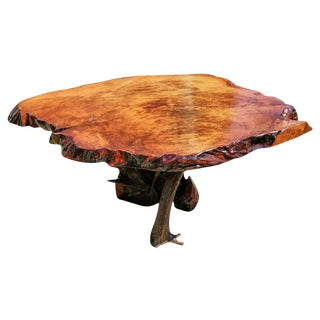 Live Edge Redwood Burl Coffee Table