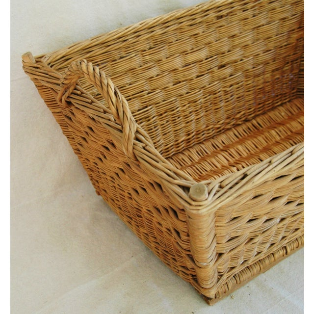 Early 1900s French Willow and Wicker Market Basket - Image 8 of 9