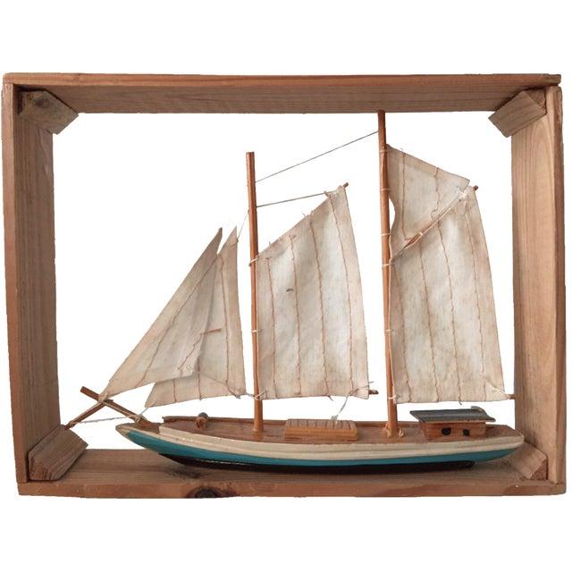 Vintage Sailboat Nautical Decorative Item - Image 1 of 4