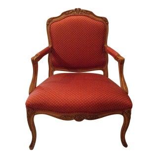 Schumacher Apres Louis XV Wooden Chair