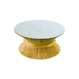 Rattan Wheat Sheaf Coffee Table