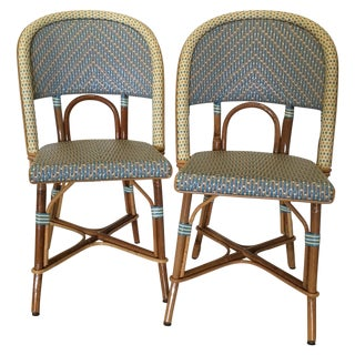 Authentic French Maison Gatti Bistro Chairs - Pair