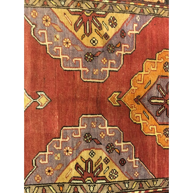 "Bellwether Rugs Vintage Turkish Oushak Runner - 5'8""x9'1"" - Image 7 of 10"