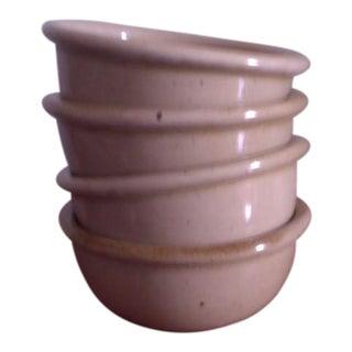 "Dansk ""BLT"" Spice Tan Stoneware Bowls by Niels Refsgaard - Set of4"
