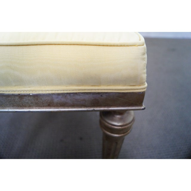 Vintage Custom Silver Gilt Regency Benches - Pair - Image 7 of 9