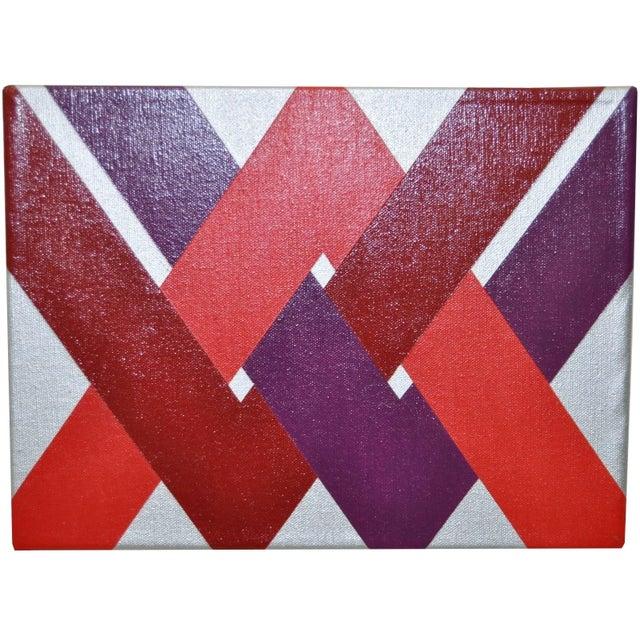 1970 Charles Hersey Vintage Op Art Painting - Image 2 of 6