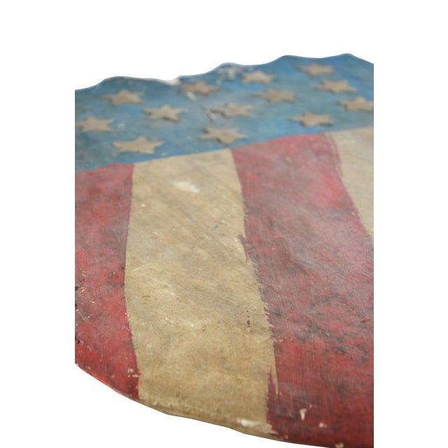Vintage Hand-Crafted Patriotic Plaster Crest - Image 3 of 4