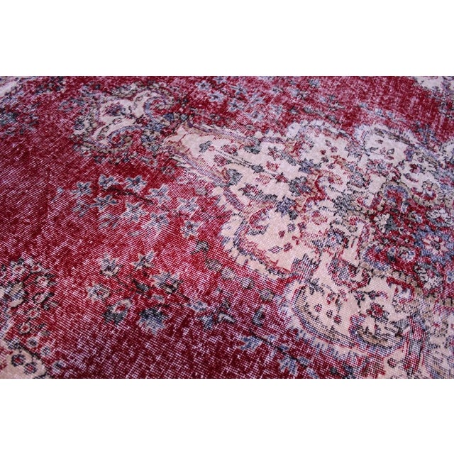 "Distressed Turkish Rug Decorative Rug, 6'1"" X 9'8"" - Image 6 of 8"
