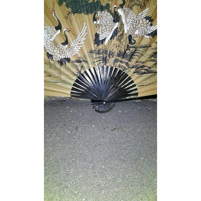 Antique 1930s Chinoiserie Wall Fan - Image 4 of 5
