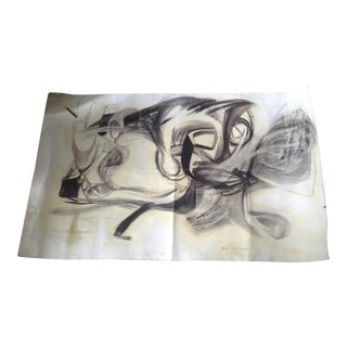 Vintage Abstract No. 1 Charcoal