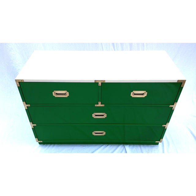 Image of Green Lacquered Bernhardt Campaign Dresser