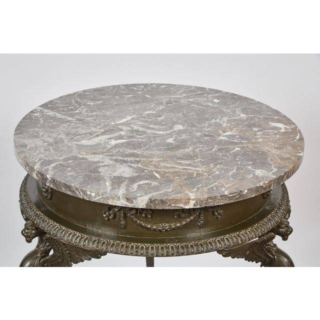 Mid 19th Century three-legged Italian Dark Gray Marble Top Gueridon Table - Image 5 of 7
